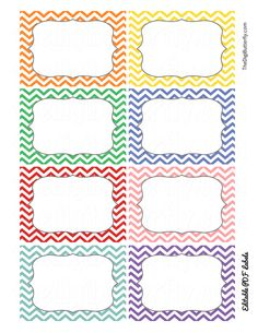Free Printable Label Templates Pin by Elianne Thomas On Tags and Labels Classroom Labels Free, Classroom Tools, Classroom Organisation, Classroom Themes, Printable Labels, Free Printables, Tag Templates, Border Templates, Chevron Classroom