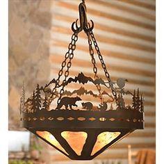 Bear Family Chandelier - 24 Inch by Black Forest Decor    http://www.blackforestdecor.com/rnlch2450r.html