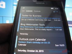 Tip: How to manually sync the emails in Mail app of Windows 10 PC and Mobile