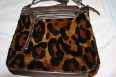 3beacec9a360 CAVALCANTI Shoulder Pocketbook Bag Faux Animal Print Brown