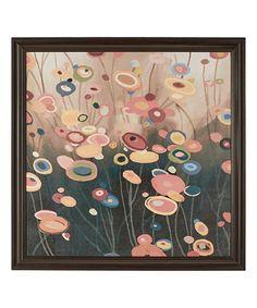 Look what I found on #zulily! Flower Pops Framed Wall Art #zulilyfinds
