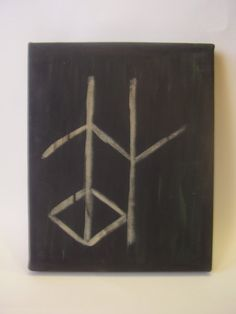 This is a painting of a Viking symbol that means WISDOM! Rune Tattoo, Norse Tattoo, Symbol Tattoos, Celtic Tattoos, Viking Tattoos, Viking Symbols, Ancient Symbols, Viking Tribes, Norway Viking