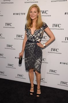 "Actress Jennifer Westfeldt attends the exclusive gala event ""For the Love of Cinema"" during the Tribeca Film Festival hosted by luxury watch manufacturer IWC Schaffhausen in New York. She is wearing the IWC Portugieser Chronograph. (PHOTOPRESS/IWC/Getty Images)"