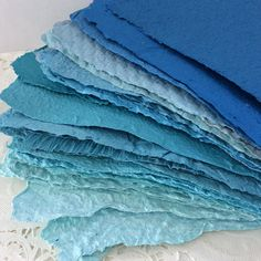 Handmade paper  Shades of Blue  Homemade Paper  Pick the