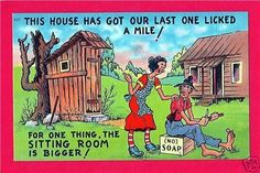 Outhouse-Hillbilly-Humor-Old-Comic-Linen-Post-Card-43