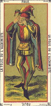 French card, note jester references...