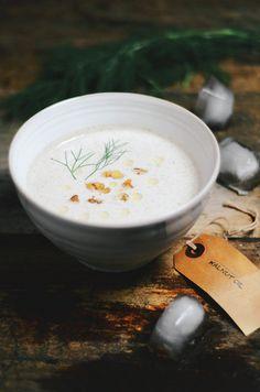 chilled cucumber walnut yogurt soup #glutenfree #vegetarian #yogurt #chilledsoup by abrowntable, via Flickr