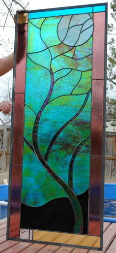 Moonlit Tree Stained Glass Window Extra by stainedglassfusion, $1149.00