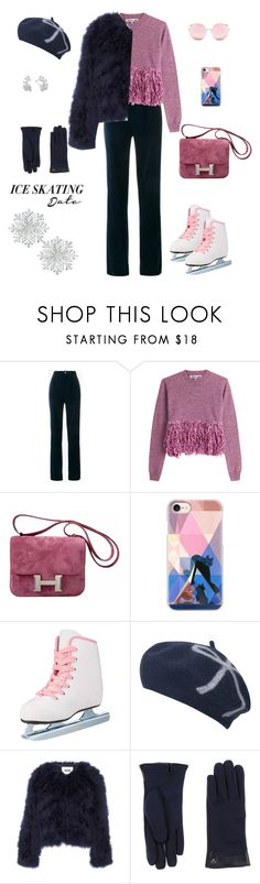 """""""Ice skating!"""" by sebolita ❤ liked on Polyvore featuring Gucci, McQ by Alexander McQueen, Hermès, Casetify, MSGM, Dal Dosso and Matthew Williamson"""