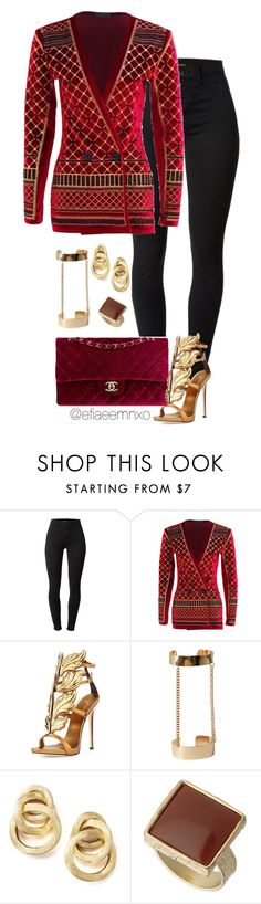 """""""Rich Velvet"""" by efiaeemnxo ❤ liked on Polyvore featuring J Brand, Chanel, Giuseppe Zanotti, Forever 21, Marco Bicego and Dorothy Perkins"""