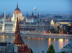 Budapest, Hungary.  Take a Danube River Cruise down through Eastern Europe. Experience of a lifetime!