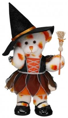 Halloween bear dressed up as a witch (Build-A-Bear workshop).