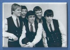 THE DAVE CLARK FIVE *2X3 FRIDGE MAGNET* ROCK N ROLL BAND BRITISH INVASION GROUP