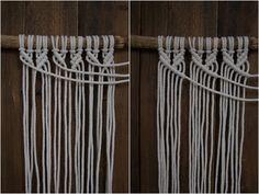 Kaarnan katveessa: Kuvalliset ohjeet: makramee seinävaate Yarn Braids, Clothes Hanger, Diy Gifts, Diy And Crafts, Knit Crochet, Weaving, Crafty, Knitting, Creative