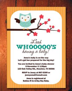 Owl Baby Shower Invitations  Owls Invites  gender by miragreetings, $14.00