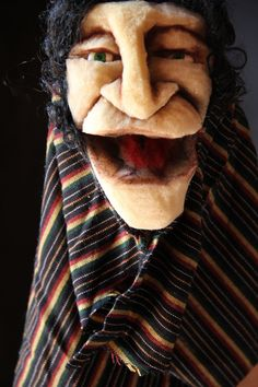 handmade puppet with recycled materials Monty by floradelgiudice, $40.00