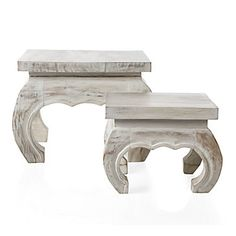 Chiang Mai Table - White | Accent Tables & Stools | Accessories | Decor | Z Gallerie
