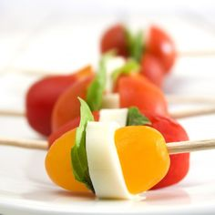 Heirloom Tomato Caprese Bites. A healthy summer appetizer