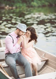 Canadian Lakeside Engagement Shoot | photo by White Willow Photography | 100 Layer Cake