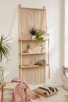 Macrame Wall Hanging Shelf , Shelf, Modern Macrame ...