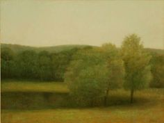 John Beerman  Ayr Mount, Grey and Green  2010  oil on linen  30 x 40 inches