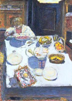 Pierre Bonnard - The Table, 1925 (Tate Museum London England) at Pierre Bonnard: Painting Arcadia Exhibit Legion of Honor Museum of Fine Arts San Francisco CA Pierre Bonnard, Paul Gauguin, Henri Matisse, Tate Gallery, Edouard Vuillard, Art Uk, Museum Of Fine Arts, Claude Monet, Vincent Van Gogh