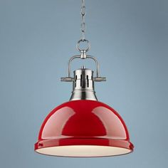 Duncan Pewter 14 Wide Contemporary Red Pendant Light