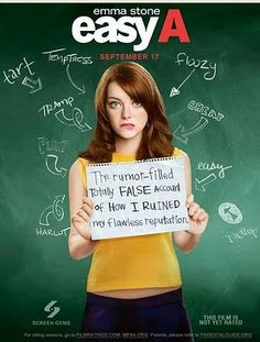 Easy A: a fun movie to watch. Emma Stone is amazing!