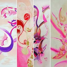 Artwork by Kirsty Mills Pink palette