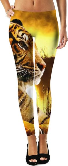 Tiger and Sunset Leggings