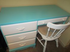 Painted desk from thrift store!