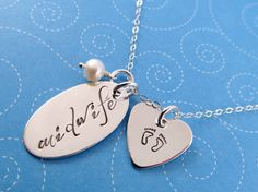 Midwife Necklace, Gift for Midwife, Handstamped Sterling Silver, Midwifery Gift
