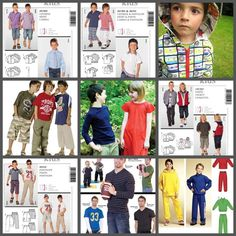 Great sewing patterns for boys