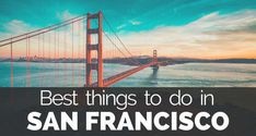 15 Ultimate Best Things To Do In San Francisco. Read here what to do in San Francisco. You can find Travel Tips for San Francisco, Unites States. Free Travel, Travel Tips, Stuff To Do, Things To Do, Most Beautiful Pictures, Adventure Travel, New Experience, San Francisco, Vacation