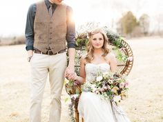 bohemian wildflower wedding inspiration - photo by Lauren Fair Photography http://ruffledblog.com/bohemian-wildflower-wedding-inspiration