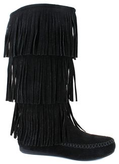 This Boot Features:<br/>synthetic upper, fringe detailing for style, side zipper for an easy on and off, stitching accents, cushioned insole, durable and gripping synthetic outsole