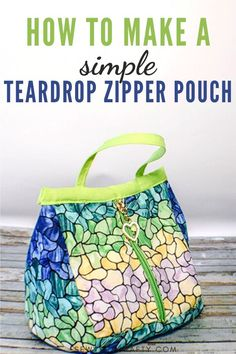 Here is another cute zipper pouch sewing tutorial from Sew Very Crafty.  This is a fun little teardrop zipper pouch with free sewing pattern and step-by-step sewing instructions. This is a fun little project and a cute little pouch so give this one a try. Photo Tutorial, Diy Tutorial, Sewing Hacks, Sewing Tutorials, Sewing Patterns Free, Free Sewing, Diy Craft Projects, Diy Crafts, Craft Ideas