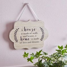 Home of Love and Dreams Plaque | Dunelm