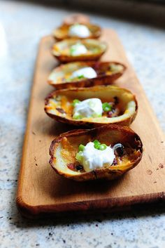 Loaded Potato Skins. YUM!:)