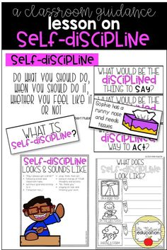 Need help fostering self-control and teaching self-discipline in your school? Check out this classroom guidance lesson! Elementary School Counseling, School Counselor, Elementary Schools, Career Counseling, Elementary Music, Elementary Teacher, Coping Skills, Social Skills, Social Work