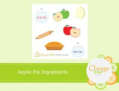 Apple Pie Ingredients, Baking Ingredients, Printable Stickers, Planner Stickers, All Design, Kiwi, It Is Finished, Printables, Messages