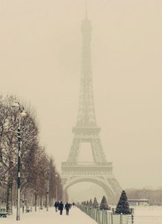 Paris covered in snow how perfect