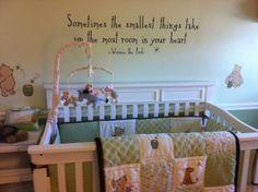 Classic the pooh nursery baby decor winnie bedding canada inspiration to p . Baby Nursery Decor, Nursery Neutral, Baby Decor, Girl Nursery, Nursery Ideas, Room Ideas, Baby Baby Baby Oh, Winnie The Pooh Nursery, Baby Wall Art