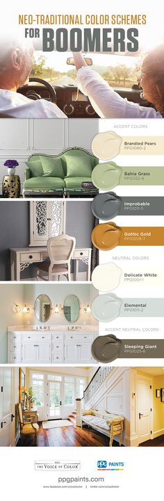 Neo-Traditional Color Schemes for Boomers |The Neo-Traditional color palette is designed for Boomers who love youthful, yet sophisticated looks. This color scheme offers an assortment of bold and elegant colors for Boomers.