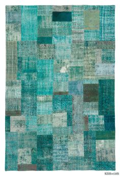 K0010668 Over-dyed Turkish Patchwork Rug | Kilim Rugs, Overdyed Vintage Rugs, Hand-made Turkish Rugs, Patchwork Carpets by Kilim.com