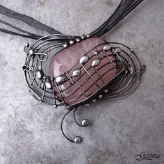 Your favorite tunes - That's Beethoven :) silver wire pendant with an unusual design and fabrication