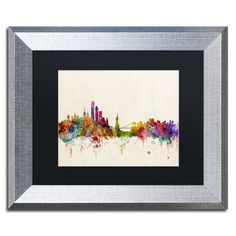 "Trademark Art New York, New York by Michael Tompsett Framed Graphic Art Size: 16"" H x 20"" W x 0.5"" D"