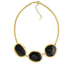 Agate stone statement necklace