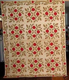 Floral Applique Quilt from Virginia~19th Century