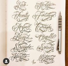 Tattoo Fonts Alphabet, Cursive Tattoos, Tattoo Fonts Cursive, Cursive Alphabet, Hand Lettering Alphabet, Tattoo Lettering Design, Chicano Lettering, Graffiti Lettering Fonts, Sketch Tattoo Design